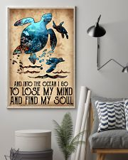 Turtle Into The Ocean Lose My Mind Find My Soul 11x17 Poster lifestyle-poster-1