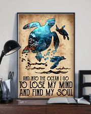 Turtle Into The Ocean Lose My Mind Find My Soul 11x17 Poster lifestyle-poster-2