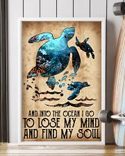 Turtle Into The Ocean Lose My Mind Find My Soul 11x17 Poster lifestyle-poster-4