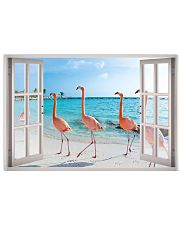 Flamingo Beach Poster 36x24 Poster front