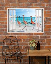 Flamingo Beach Poster 36x24 Poster poster-landscape-36x24-lifestyle-20