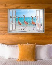 Flamingo Beach Poster 36x24 Poster poster-landscape-36x24-lifestyle-23