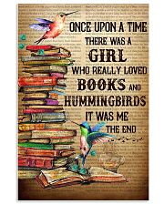 Girl Loved Hummingbird And Books 11x17 Poster front