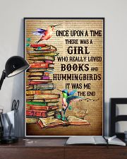 Girl Loved Hummingbird And Books 11x17 Poster lifestyle-poster-2
