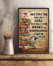 Girl Loved Hummingbird And Books 11x17 Poster lifestyle-poster-3