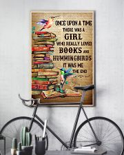 Girl Loved Hummingbird And Books 11x17 Poster lifestyle-poster-7