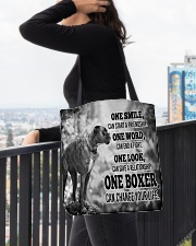 BOXER CHANGE YOUR LIFE All-over Tote aos-all-over-tote-lifestyle-front-05