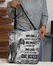 BOXER CHANGE YOUR LIFE All-over Tote aos-all-over-tote-lifestyle-front-10