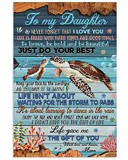 To my Daughter- turtle 11x17 Poster front