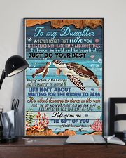 To my Daughter- turtle 11x17 Poster lifestyle-poster-2
