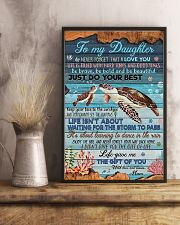 To my Daughter- turtle 11x17 Poster lifestyle-poster-3
