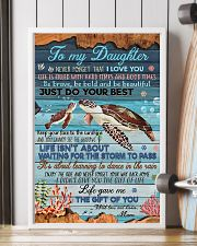 To my Daughter- turtle 11x17 Poster lifestyle-poster-4