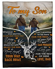"""Hunting To My Son Small Fleece Blanket - 30"""" x 40"""" front"""