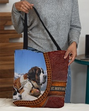 St  Bernard  2 All-over Tote aos-all-over-tote-lifestyle-front-10