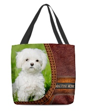 Maltese MOM All-over Tote front
