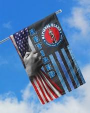 "PROUD NATIONAL GUARD RETIRED 11.5""x17.5"" Garden Flag aos-garden-flag-11-5-x-17-5-lifestyle-front-16"