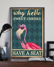 Flamingo Why Hello Sweet Cheeks Have A Seat 11x17 Poster lifestyle-poster-2