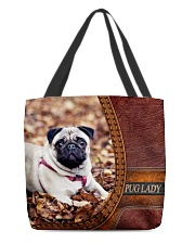 PUG LADY All-over Tote back