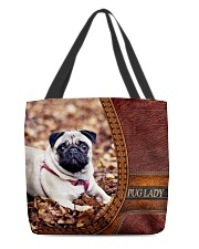 PUG LADY All-over Tote front