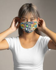 Camping Lady -Orders SHIP WITHIN 3 TO 5 DAY Cloth face mask aos-face-mask-lifestyle-16