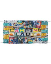 Camping Lady -Orders SHIP WITHIN 3 TO 5 DAY Cloth face mask front