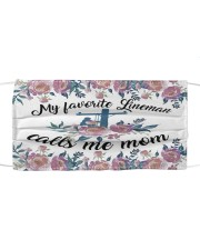 Lineman-Call me mom Cloth face mask front