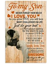 TO MY SON - PUGS LOVER 24x36 Poster front