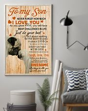 TO MY SON - PUGS LOVER 24x36 Poster lifestyle-poster-1