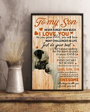TO MY SON - PUGS LOVER 24x36 Poster lifestyle-poster-3