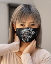 Native Aerican Skulls Cloth face mask aos-face-mask-lifestyle-18