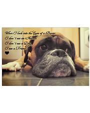 Boxer friend poster 17x11 Poster front