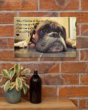 Boxer friend poster 17x11 Poster poster-landscape-17x11-lifestyle-23