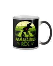 Vintage Retro 3 Kids Mamasaurus Lover Color Changing Mug thumbnail