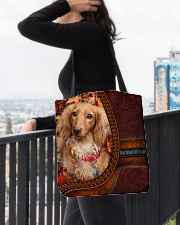 MY DACHSHUND All-over Tote aos-all-over-tote-lifestyle-front-05