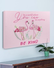 BE KIND Pink 30x20 Gallery Wrapped Canvas Prints aos-canvas-pgw-30x20-lifestyle-front-01