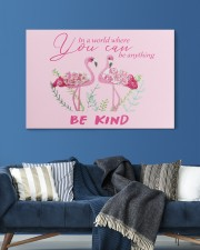 BE KIND Pink 30x20 Gallery Wrapped Canvas Prints aos-canvas-pgw-30x20-lifestyle-front-06