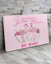 BE KIND Pink 30x20 Gallery Wrapped Canvas Prints aos-canvas-pgw-30x20-lifestyle-front-20