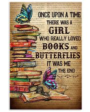 Girl Loved butterflies And Books 11x17 Poster front