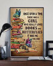 Girl Loved butterflies And Books 11x17 Poster lifestyle-poster-2