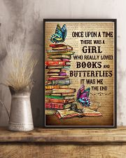 Girl Loved butterflies And Books 11x17 Poster lifestyle-poster-3