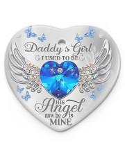 Daddy's Girl I Used To Be His Angel Now He's Mine Heart ornament - single (porcelain) thumbnail