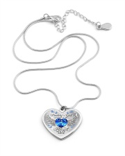 Daddy's Girl I Used To Be His Angel Now He's Mine Metallic Heart Necklace aos-necklace-heart-metallic-lifestyle-03