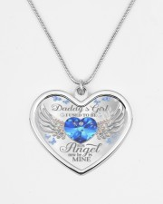 Daddy's Girl I Used To Be His Angel Now He's Mine Metallic Heart Necklace aos-necklace-heart-metallic-lifestyle-08