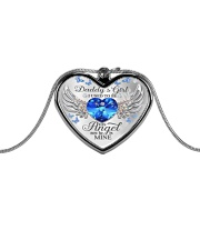 Daddy's Girl I Used To Be His Angel Now He's Mine Metallic Heart Necklace front
