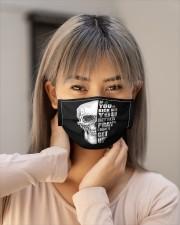 If you kick me- SKULL Cloth face mask aos-face-mask-lifestyle-18