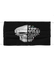 If you kick me- SKULL Cloth face mask front
