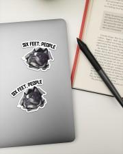 Boston Terrier 6 Feet People Sticker - 2 pack (Horizontal) aos-sticker-2-pack-horizontal-lifestyle-front-19a
