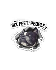 Boston Terrier 6 Feet People Sticker - 2 pack (Horizontal) front