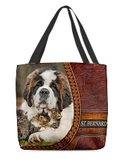 St Bernard  All-over Tote back