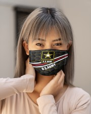 Proud US ARMY Cloth face mask aos-face-mask-lifestyle-18